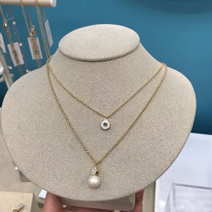 KATE SPADE PEARLY DELIGHT CREAM NECKLACE&DUST BAG